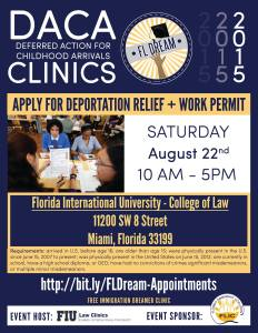 DACA Clinic Aug 22 Miami